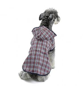 Pláštěnka pro psy s kapucí / hnědá