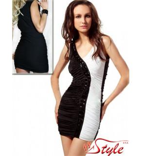 Mini šaty s černými kameny