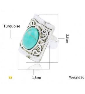 Dámský prsten s tyrkysovým kamenem