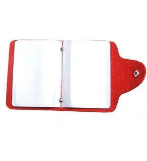 PU kožené pouzdro na Business Card Červená