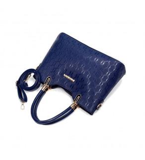Kabelka s peněženkou Modrá