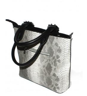 Dámská kabelka na rameno stříbrná