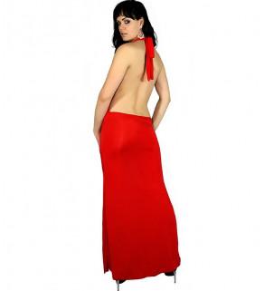 Přiléhavé dlouhé šaty