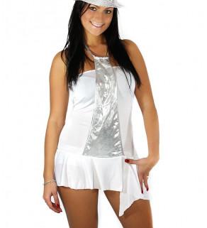 Mini šaty Stříbrnobílé