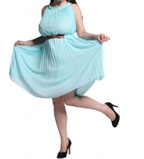 Šifonové šaty s páskem