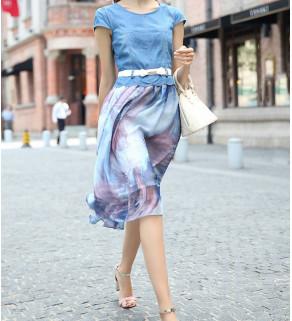 Džínový top se sukní