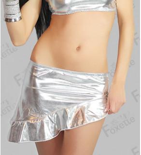 Stříbrná mini sukně Foxette