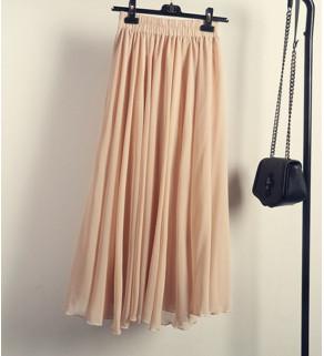 Přírodní šifónová sukně