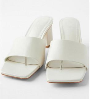 Dámské pantofle přírodní bílé