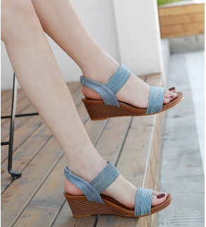 Dámské Sandále Modré