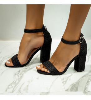 Dámské Sandále Černé
