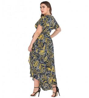 Dámské vzdušné letní šaty ČernoŽluté