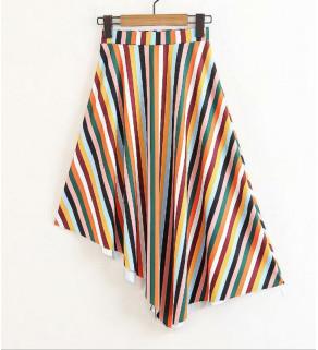 Barevná pruhovaná sukně