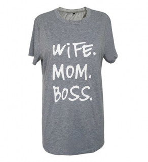 Bavlněné tričko s textem