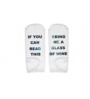 Krátké kotníčkové ponožky s textem