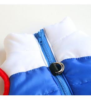 Zimní prošívaná vesta se zapínáním na zip