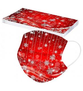 Jednorázová rouška s vánočním motivem