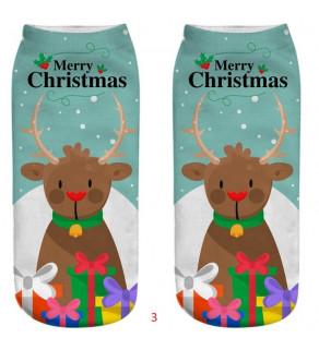 Ponožky s Vánočními motivy bílé 16 -19 cm