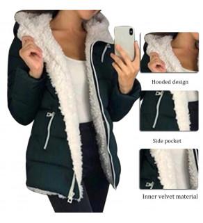 Teplá zimní bunda s kapucí