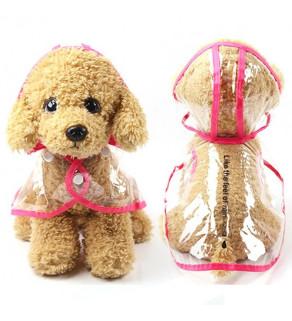 Transparentní pláštěnka pro psa s kapucí