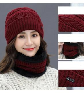 Dámská pletená čepice s nákrčníkem