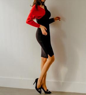 Dvoubarevné dámské šaty