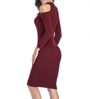 Úpletové dlouhé šaty