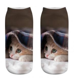 3D ponožky s motivem kočiček