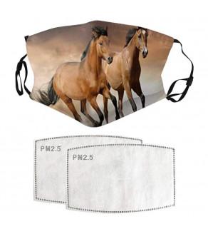 Kvalitní rouška s motivem koně + 2x PM2,5 filtr