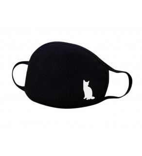 Kvalitní bavlněná rouška s motivem kočky
