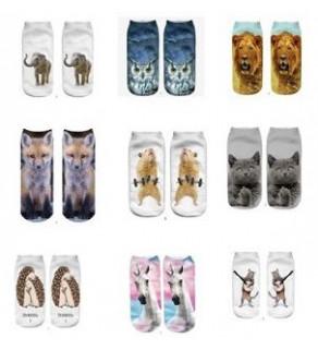 Ponožky Animal bílá 16 -19 cm